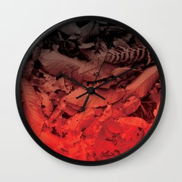 Autumn Leaves, the fall Wall Clock