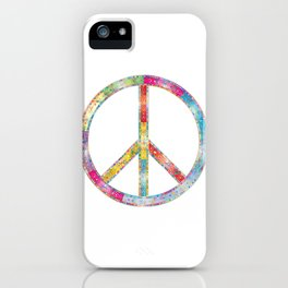 flourish decorative peace sign iPhone Case