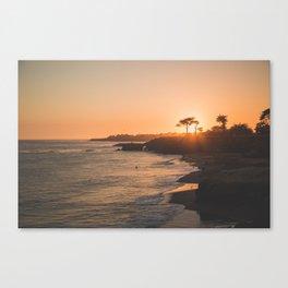 Santa Cruz Sunset Canvas Print