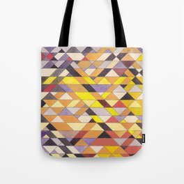 Triangle Pattern No.8 Black and Yellow Tote Bag