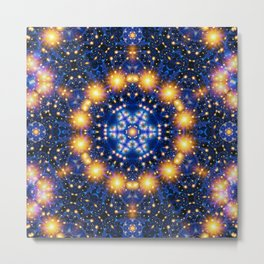 Star Burst Mandala Metal Print