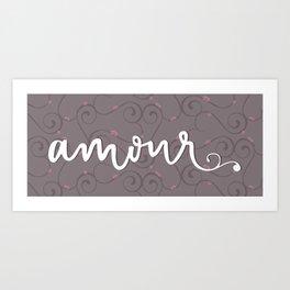 Amour Letterform Art Print