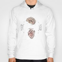 anatomical heart Hoodies featuring Anatomical Oracle by Michele Phillips