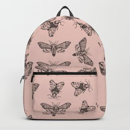 Pink moths pattern Backpack