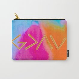 God Is Greater - Tie Dye Carry-All Pouch