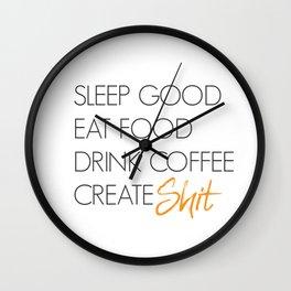 Create Shit Wall Clock