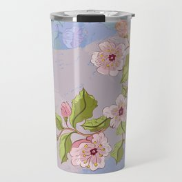 Colored Sketch of Sakura Branch Travel Mug