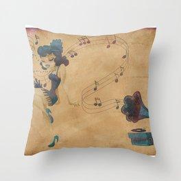 charleston dancer Throw Pillow