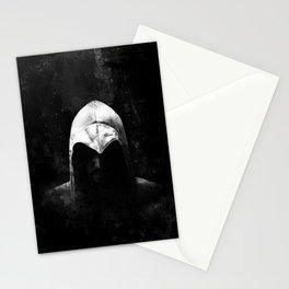 Roman Assassin Hood - B&W Stationery Cards