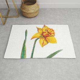 Narcissus flower Rug