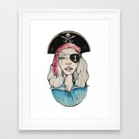 pirate Framed Art Prints featuring Pirate by Bruno Gonçales