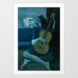 Pablo Picasso - The Old Guitarist Art Print