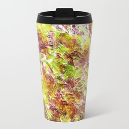 Subtle Number 12 - Bold Textural Expressionist Abstract Mixed Media Painting by Mark Compton Travel Mug