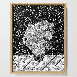 Van Gogh - Sunflowers Serving Tray
