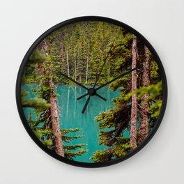 Through the Trees at Lesser Lake Garibaldi Wall Clock