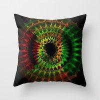 reggae Throw Pillows featuring Reggae Vibe by A-Devine