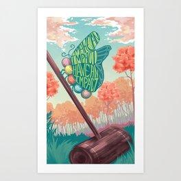 Butterfly Croquet Art Print
