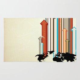 "Glue Network Print Series ""Economic Development"" Rug"