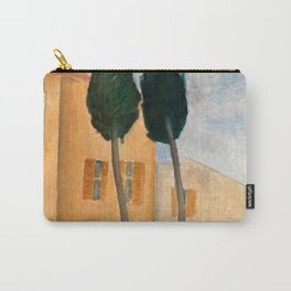 "Amedeo Modigliani ""Cypresses and Houses at Cagnes (Cyprès et maisons à Cagnes)"" Carry-All Pouch"