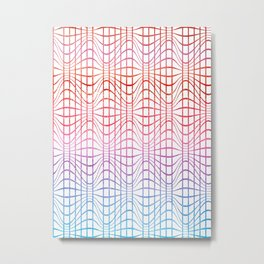 Straight and curved lines - Optical Game 19 Metal Print