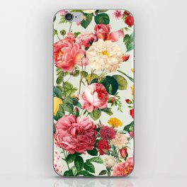 Floral A iPhone Skin