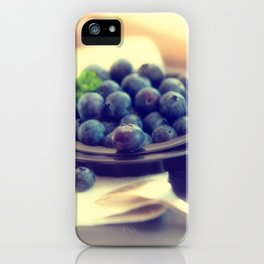 Blueberry plate iPhone Case