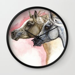 Arabian Horses Wall Clock