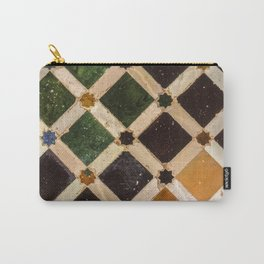 Arrayanes courtyard detais Alhambra Palace. Spain Carry-All Pouch