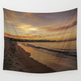 Last light on the Port Wall Tapestry