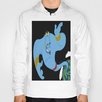 robin williams Hoodies featuring Genie (tribute to Robin Williams) by ItalianRicanArt