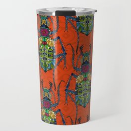 flower beetle orange Travel Mug
