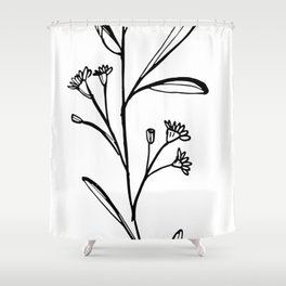 Gum Tree Branch with Blossom by Jess Cargill Shower Curtain
