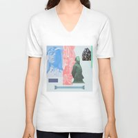allyson johnson V-neck T-shirts featuring Magic Johnson by Young Weirdos Guild