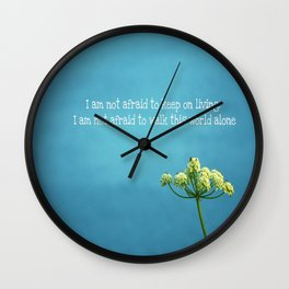 """Famous Last Words"" Wall Clock"