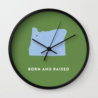 oregon Wall Clocks featuring Oregon by Hunter Ellenbarger