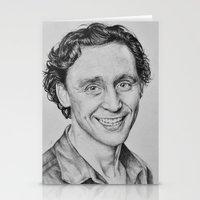 tom hiddleston Stationery Cards featuring Tom Hiddleston by hinterdemlicht