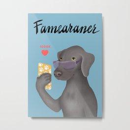 Famearaner (Blue Background) Metal Print