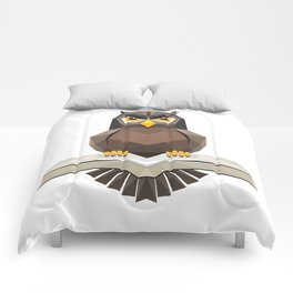 Vector, Brown Owl fly with the book Comforters