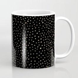 Dotted Gold & Black Coffee Mug