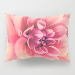 Her Smile (Spring Blooming Rose Pink Dahlia) Pillow Sham