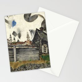 Marc Chagall gray house Stationery Cards