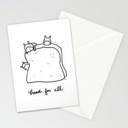 bread for all Stationery Cards