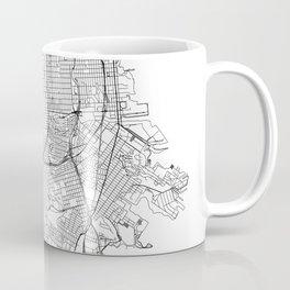 San Francisco White Map Coffee Mug