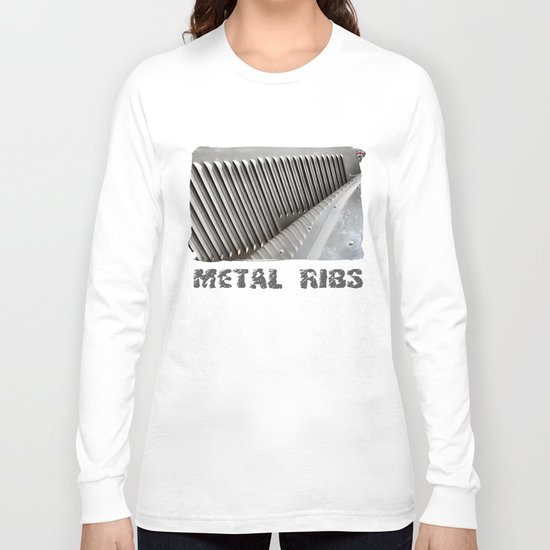 Metal Ribs Long Sleeve T-shirt
