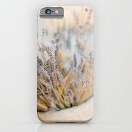 Dry lavender bouquet iPhone Case