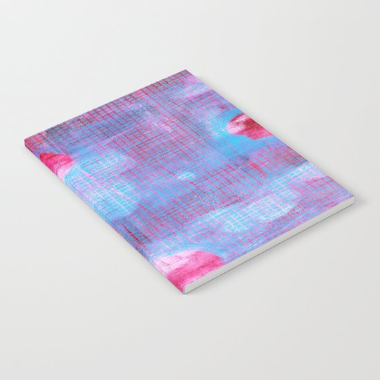 Crimson Clover, Abstract Monoprint Painting Notebook