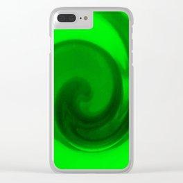 Green tie dye Clear iPhone Case