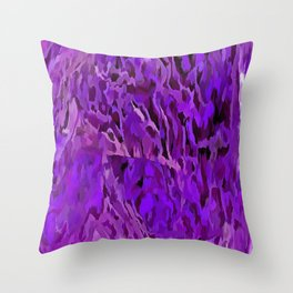 Distressed Violet Tree Bark Abstract Throw Pillow