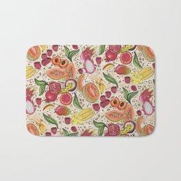 Ready to Eat - Fruit Pattern in White Bath Mat