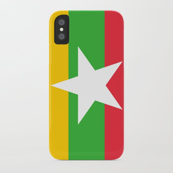 flag of Myanmar iPhone Case by oldking